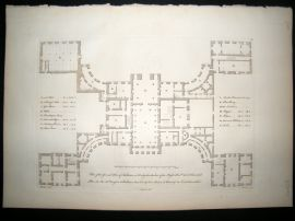 Vitruvius Britannicus C1720 Architectural Plan. Kedleston Hall, Derbyshire